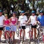 Happy group with their bikes