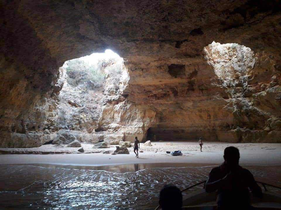 Exploring inside the caves near Benagil & Carvoeiro